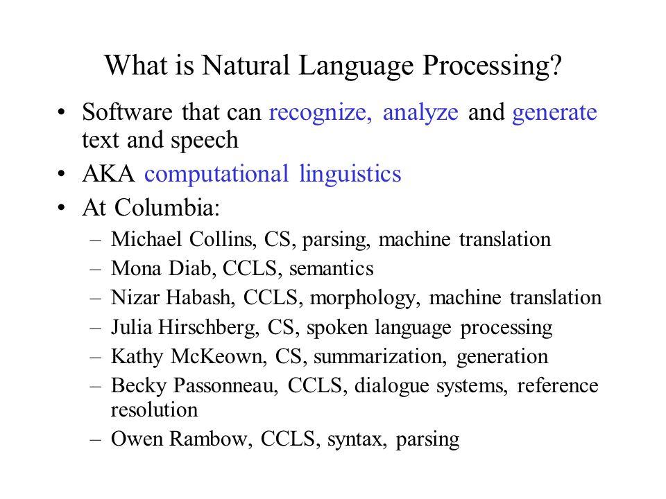 CS 4705 Natural Language Processing Julia Hirschberg COMS 4705 Fall 2010