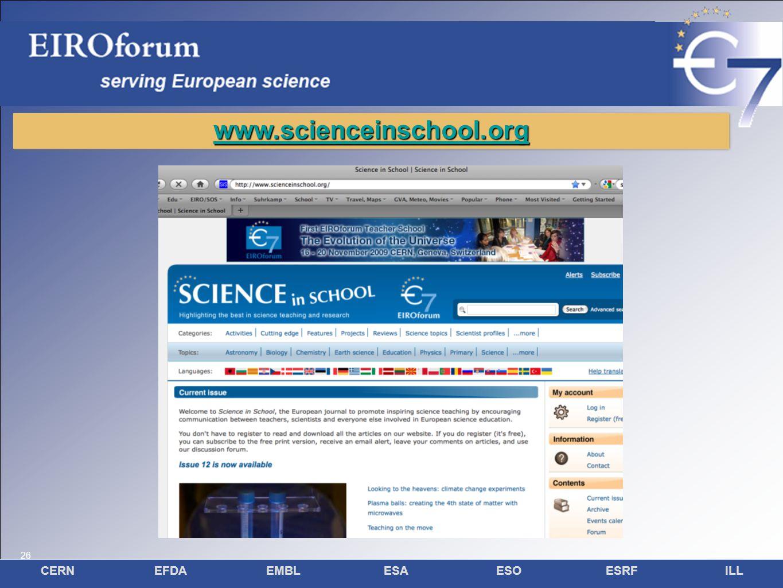 26 CERNEFDAEMBLESAESOESRFILL 26 www.scienceinschool.org