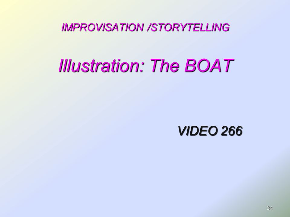 IMPROVISATION /STORYTELLING Illustration: The BOAT VIDEO 266 34