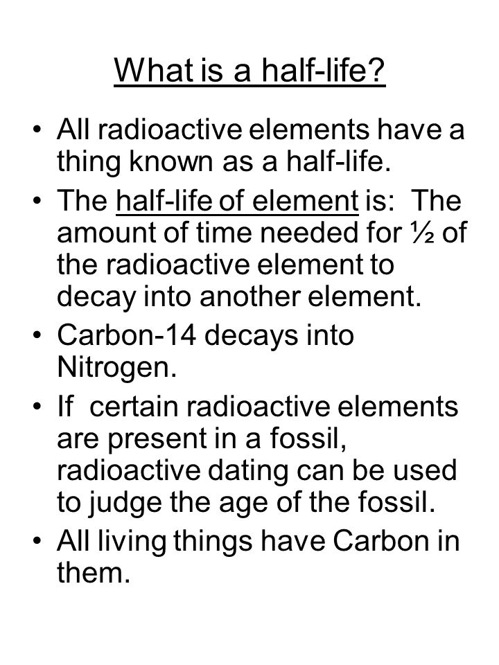 What is a half-life.All radioactive elements have a thing known as a half-life.