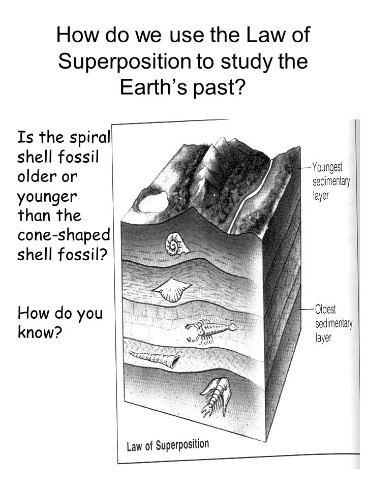 How do we use the Law of Superposition to study the Earth's past.