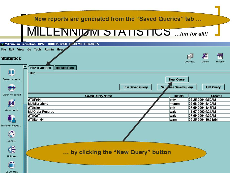 MILLENNIUM STATISTICS …fun for all!. So how do I get there.