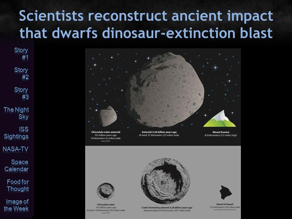 Scientists reconstruct ancient impact that dwarfs dinosaur-extinction blast
