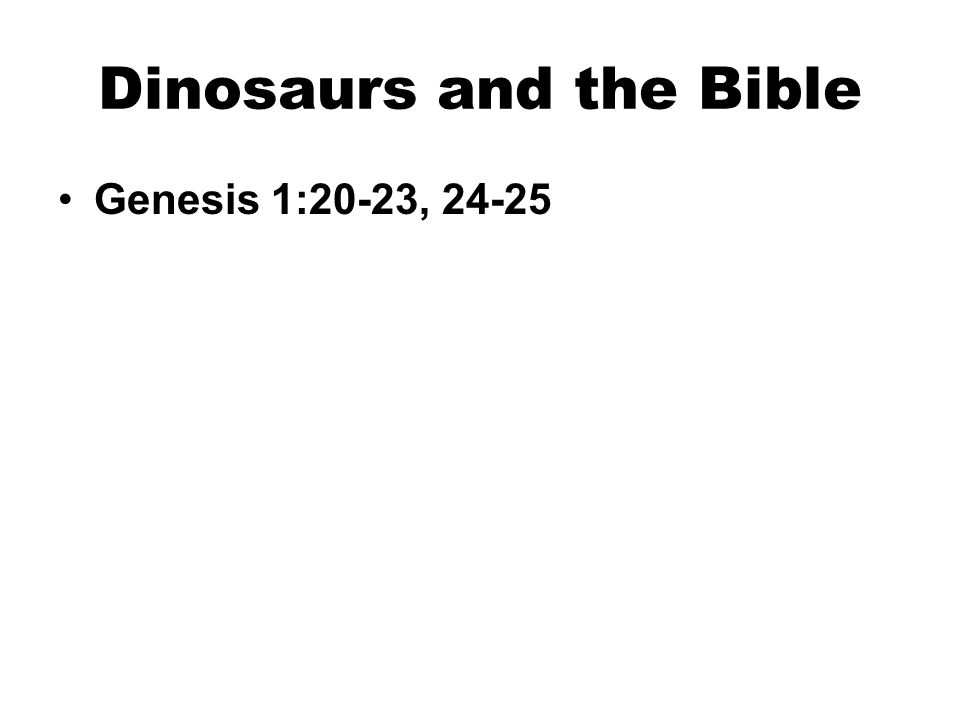 Genesis 1:20-23, 24-25