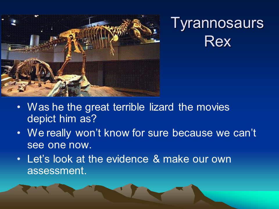 Tyrannosaurs Rex Was he the great terrible lizard the movies depict him as.