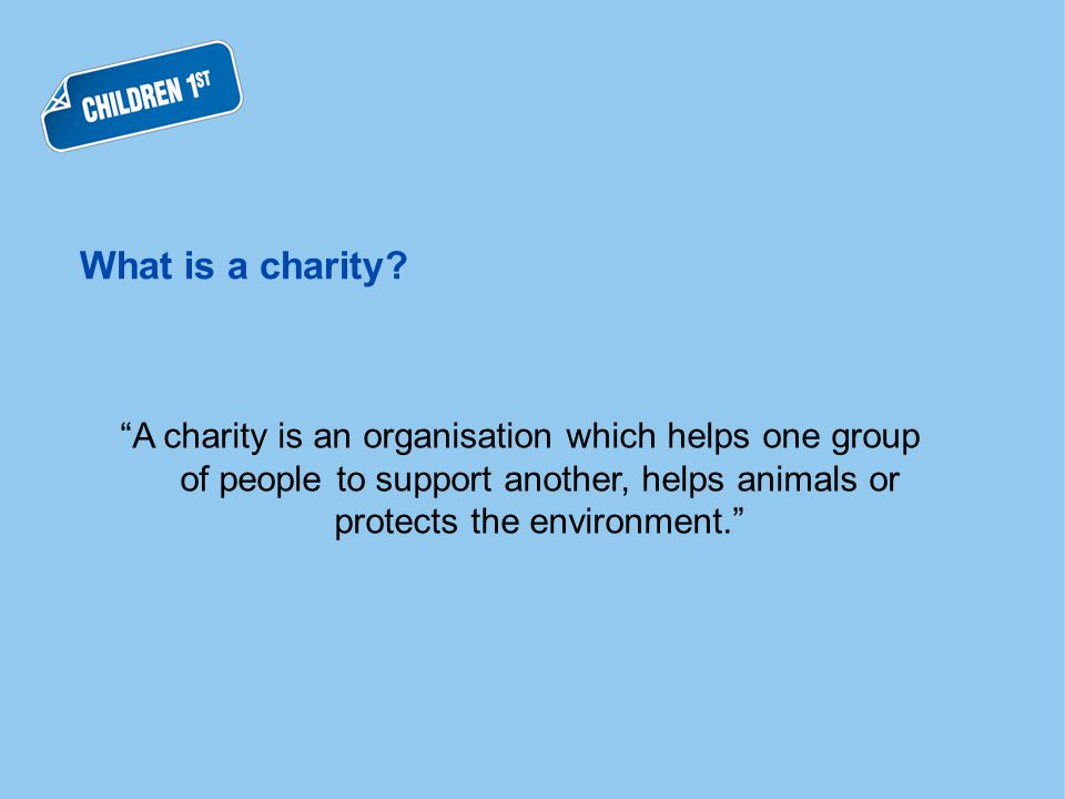 What is a charity.