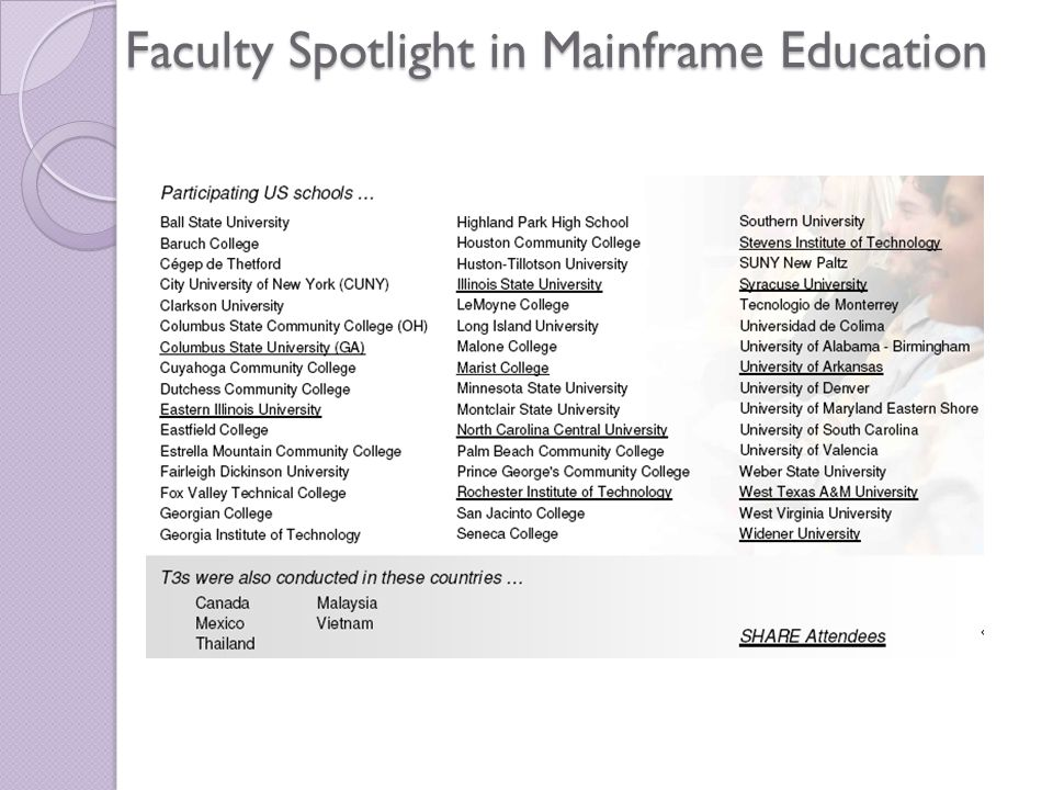 Faculty Spotlight in Mainframe Education
