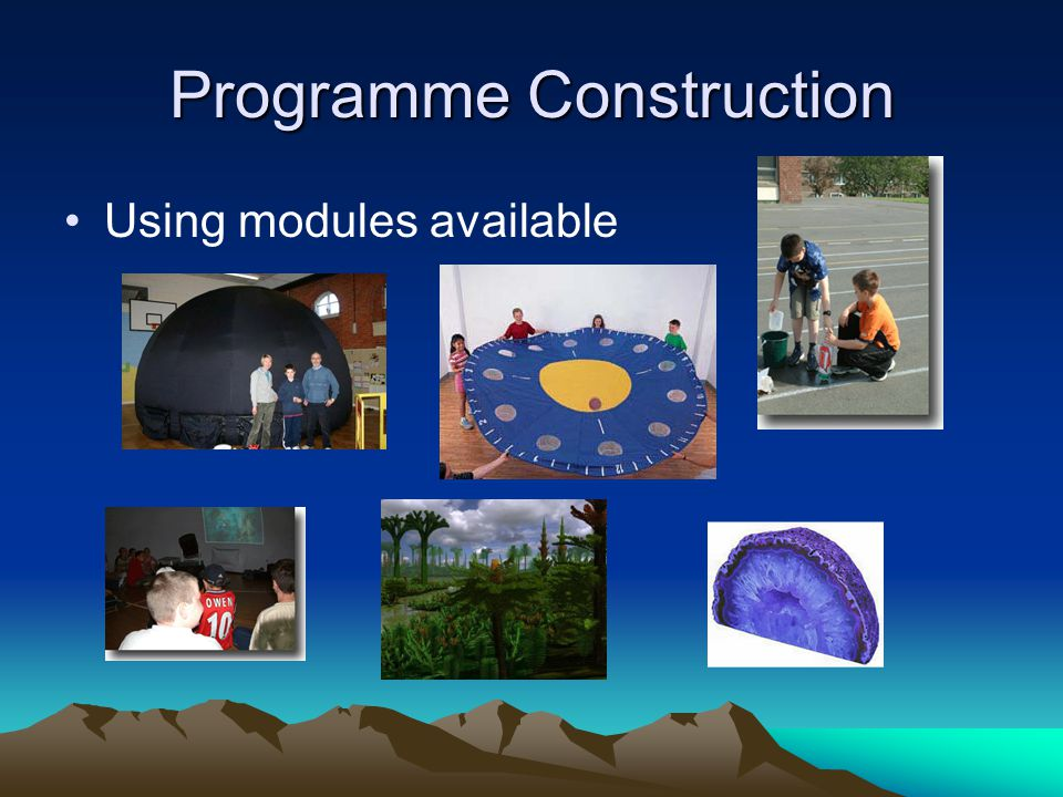 Programme Construction Using modules available