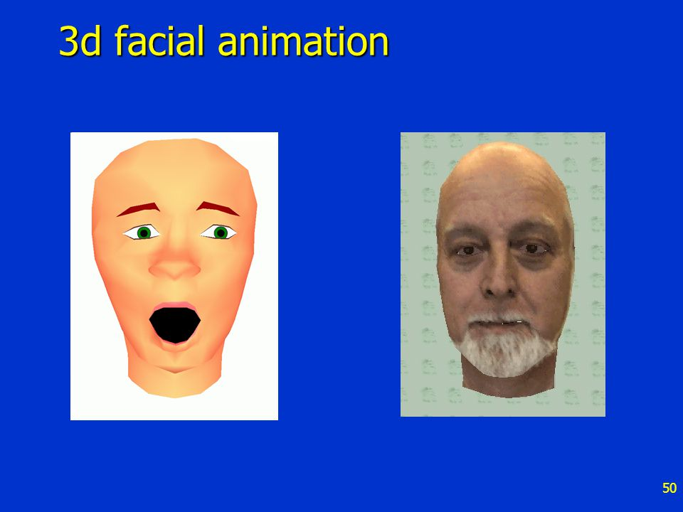 50 3d facial animation