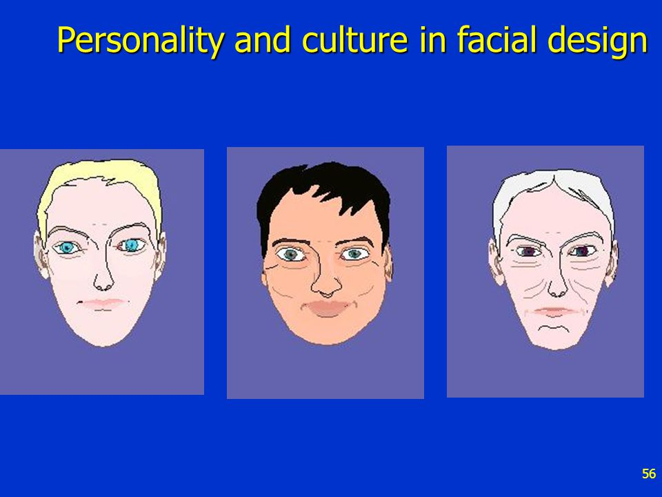 56 Personality and culture in facial design