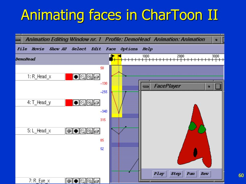 60 Animating faces in CharToon II