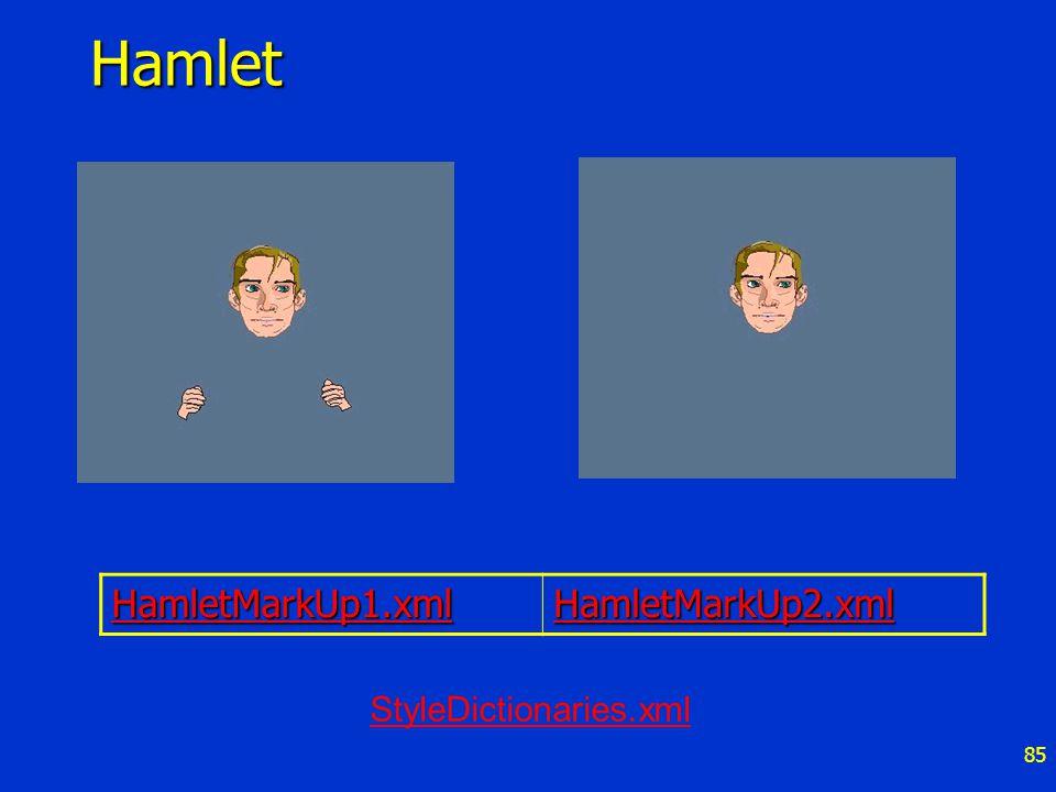 85Hamlet HamletMarkUp1.xml HamletMarkUp2.xml StyleDictionaries.xml