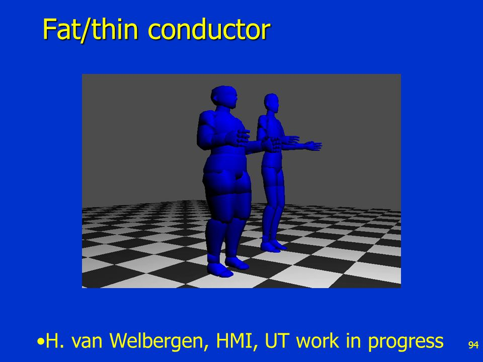 94 Fat/thin conductor H. van Welbergen, HMI, UT work in progress