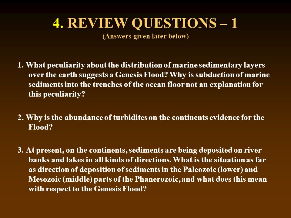 4. REVIEW QUESTIONS – 1 (Answers given later below) 1.