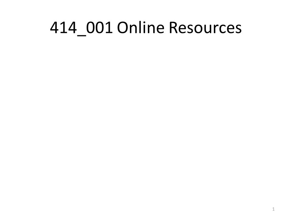 414_001 Online Resources 1