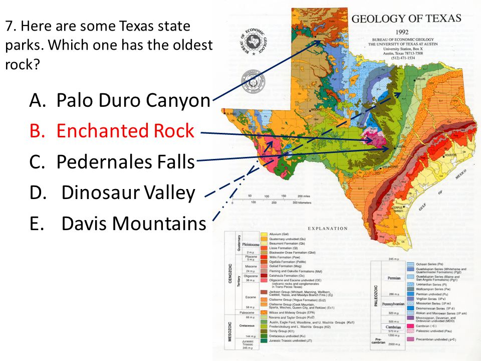 21.If you ran an exploratory well in the DFW area, and you hit metamorphic rock, which formation would you know you've drilled into.
