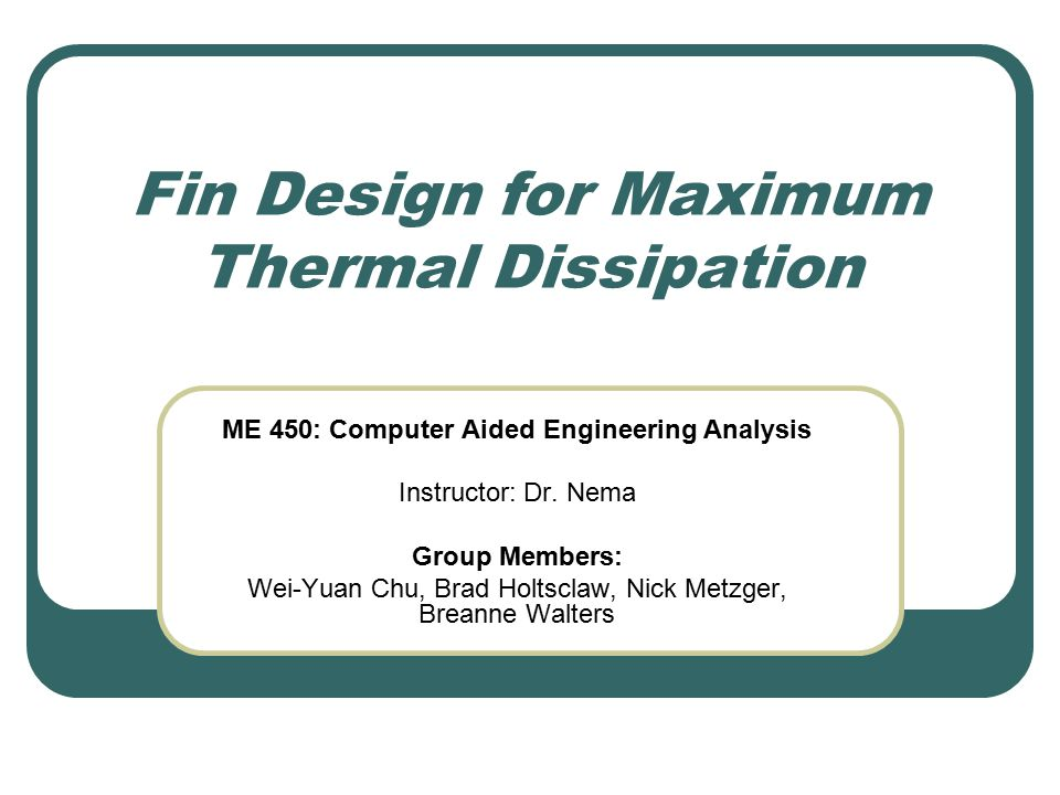 Results and Discussion: Heat Transfer Comparison for Type III Design