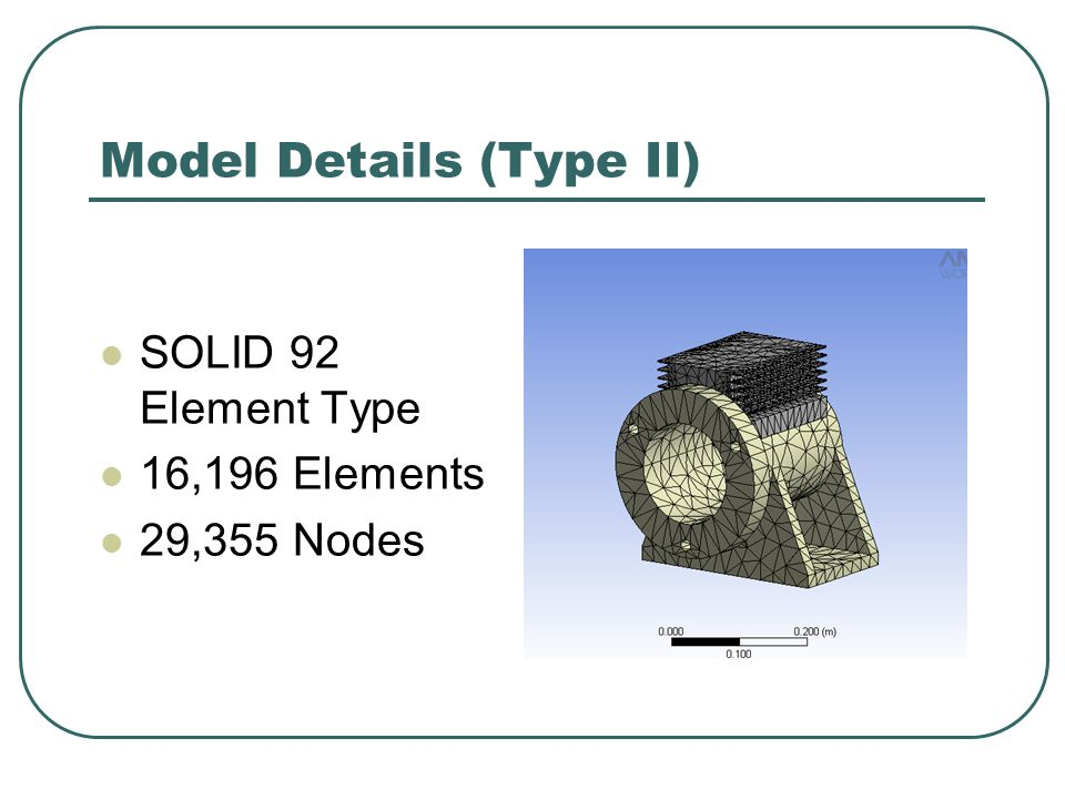 Model Details (Type III) SOLID 92 Element Type 16,196 Elements 29,355 Nodes