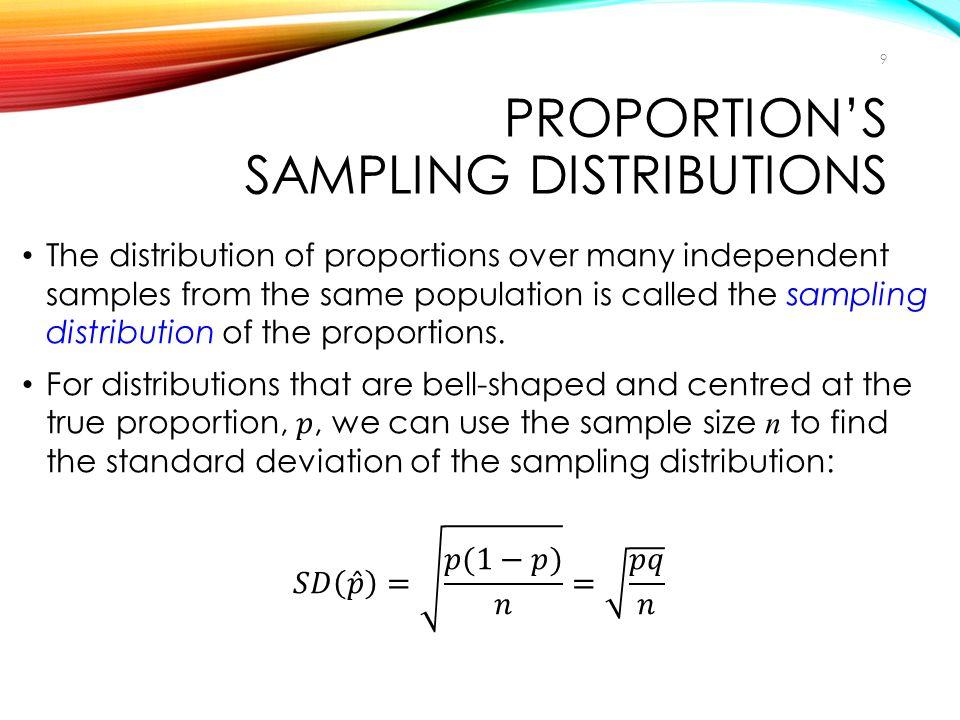 PROPORTION'S SAMPLING DISTRIBUTIONS 9