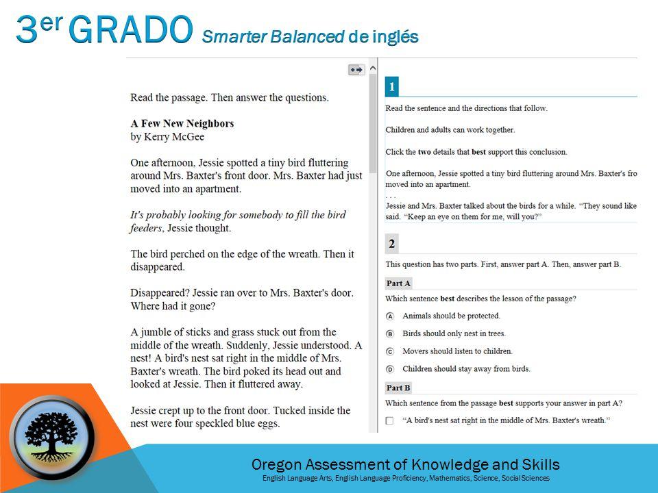 Oregon Assessment of Knowledge and Skills English Language Arts, English Language Proficiency, Mathematics, Science, Social Sciences