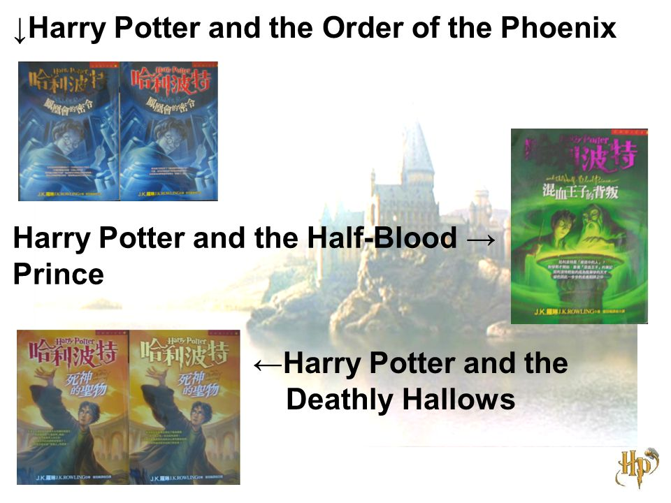 ↓Harry Potter and the Order of the Phoenix Harry Potter and the Half-Blood → Prince ←Harry Potter and the Deathly Hallows