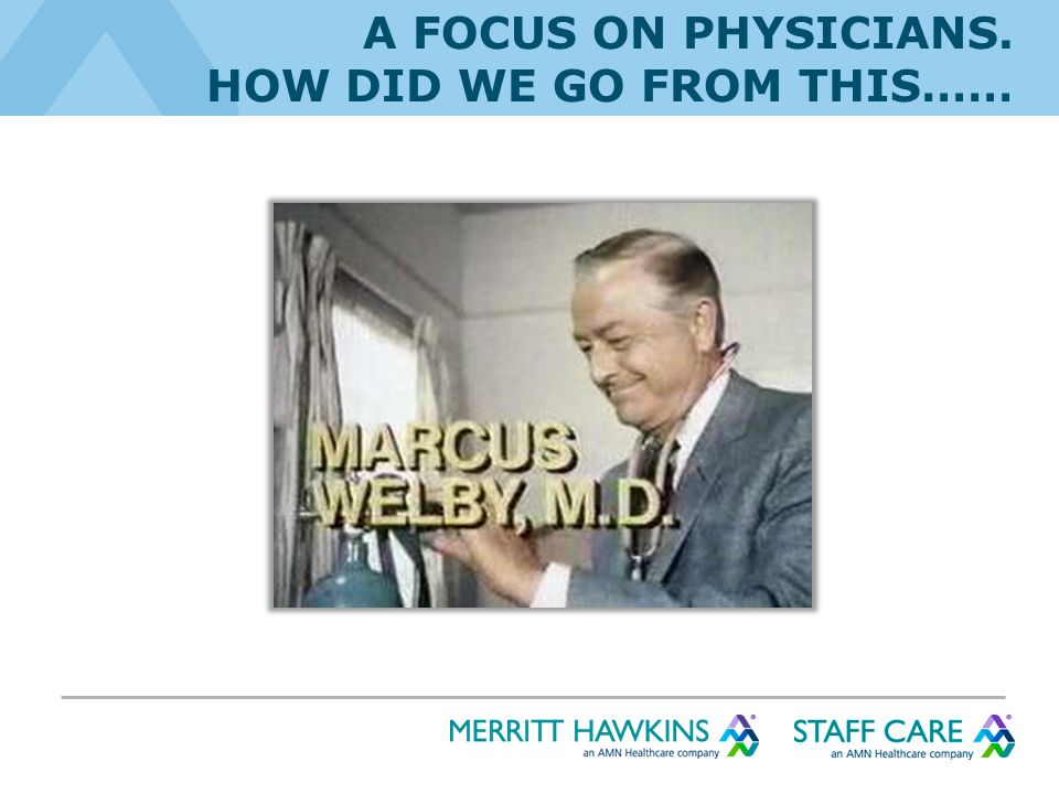 A FOCUS ON PHYSICIANS. HOW DID WE GO FROM THIS……