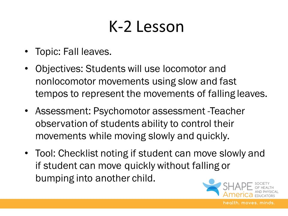 K-2 Lesson Topic: Fall leaves.