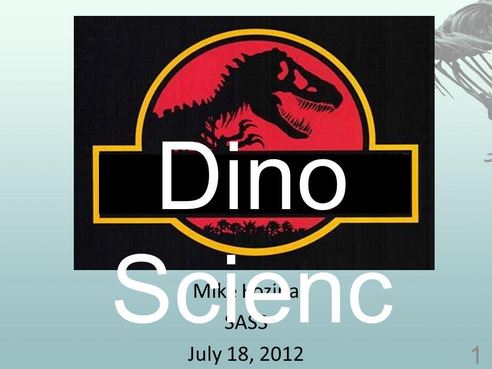 Selected Bibliography Dinosaur Diversity – Wang, PNAS 103 13601-13605 (2006) Dinosaur Biomechanics/Motion – Sellers, Proc.