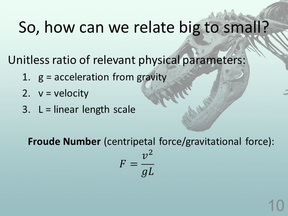 So, how can we relate big to small? 10
