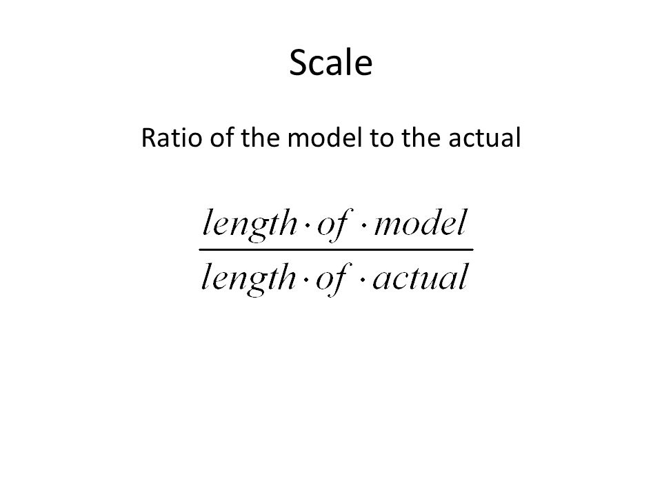 Scale Ratio of the model to the actual