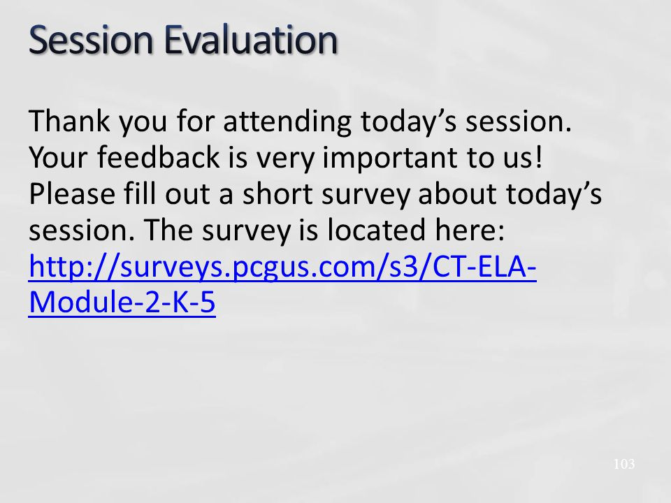 Thank you for attending today's session. Your feedback is very important to us.