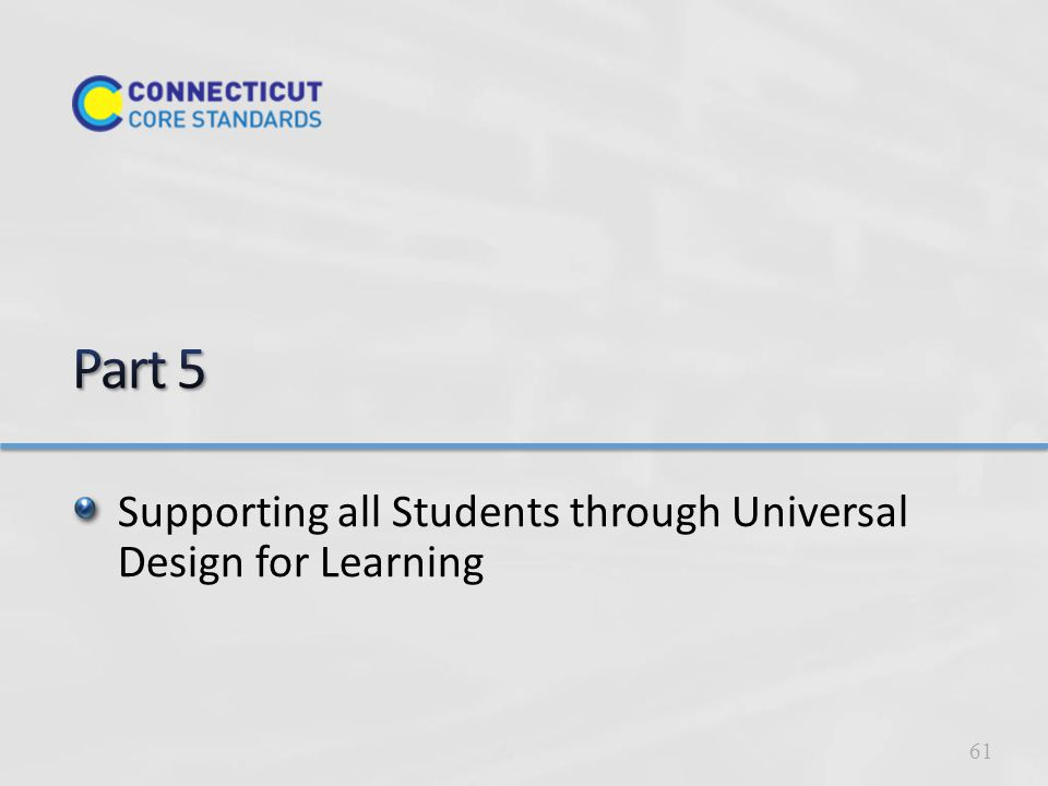 Supporting all Students through Universal Design for Learning 61