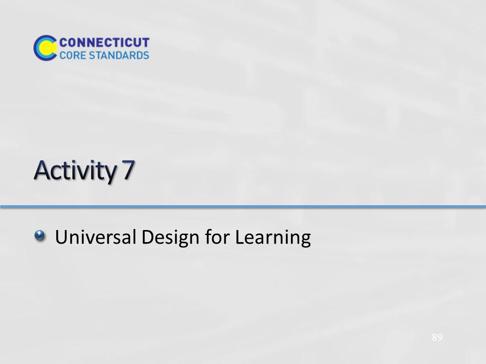 Universal Design for Learning 89