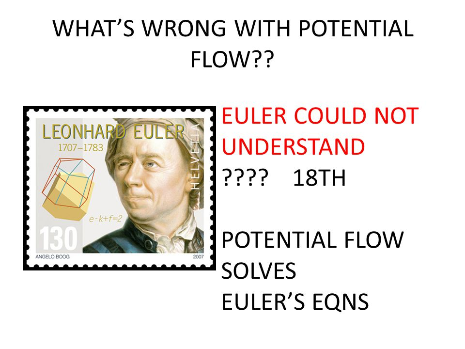 WHAT'S WRONG WITH POTENTIAL FLOW?.EULER COULD NOT UNDERSTAND ???.