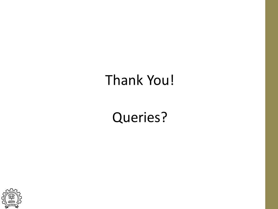 Thank You! Queries?