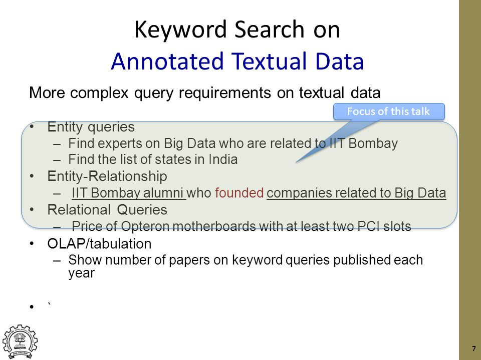 Annotated Textual Data Lots of data in textual form Mayank Bawa co-founded Aster Data……..