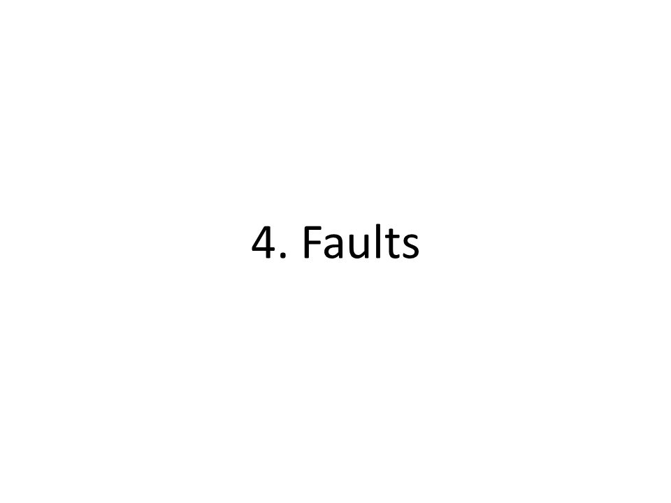 4. Faults
