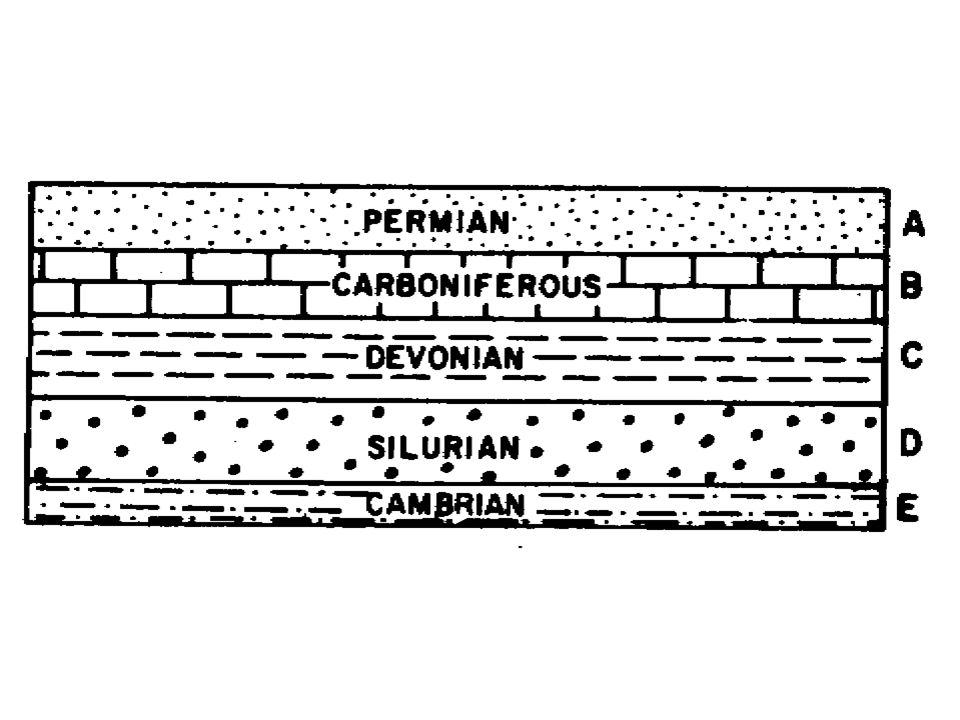 States that rock layers are deposited in horizontal layers.