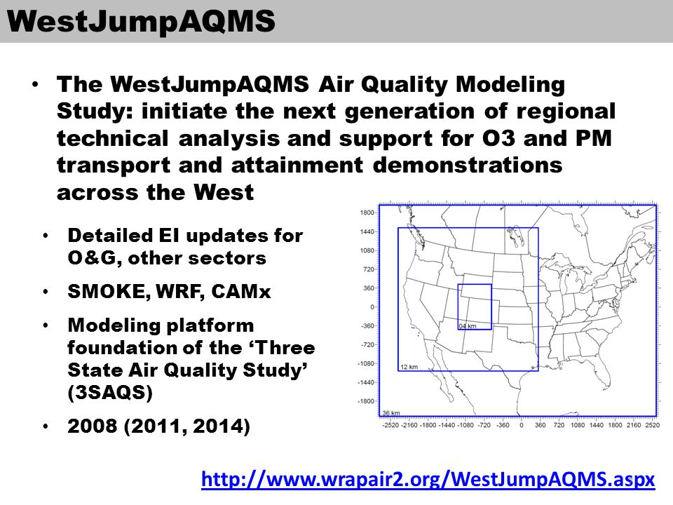 4km Intermountain West model domain O&G basins in CO, WY, UT, NM Denver-Julesburg Upper Green River Uintah Piceance San Juan A mix of national parks and wilderness areas near O&G development, EGUs, and a large urban area (Denver) 8