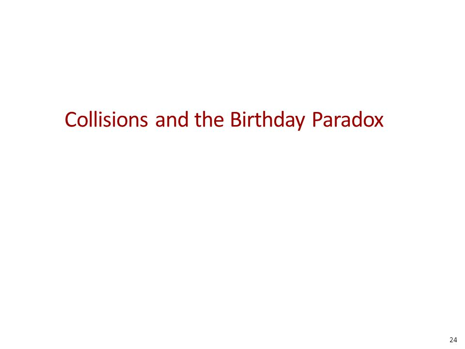 Collisions and the Birthday Paradox 24