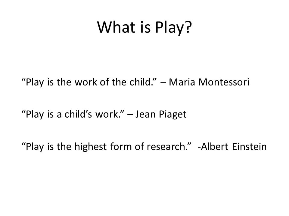 What is Play.