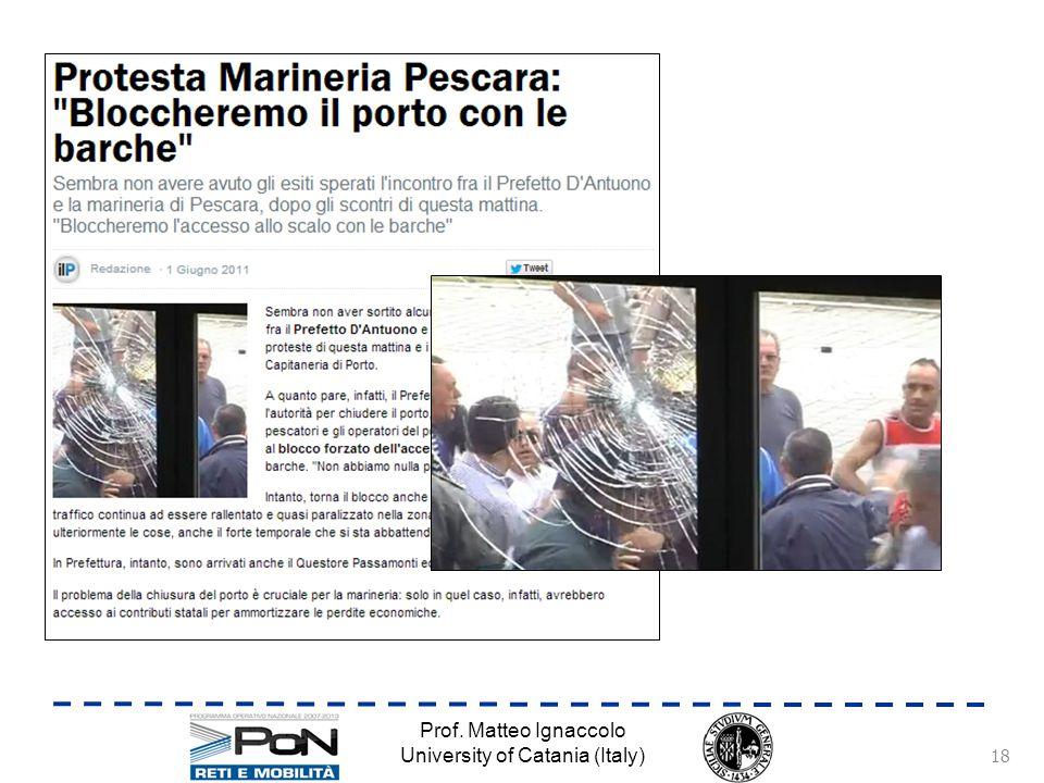 Prof. Matteo Ignaccolo University of Catania (Italy) 18