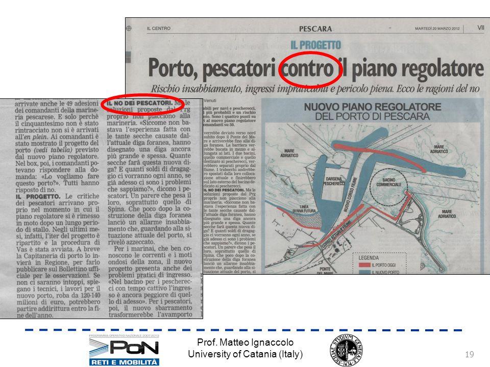 Prof. Matteo Ignaccolo University of Catania (Italy) 19