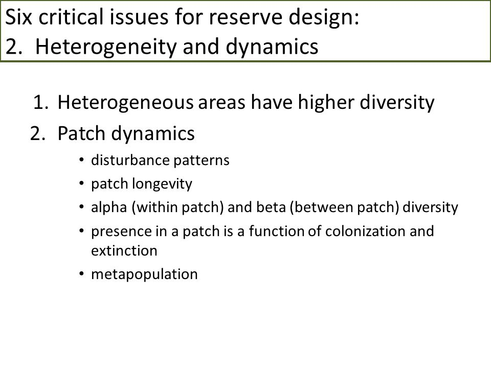 Reserve network in Sierra Nevada, cont'd 2. Use existing reserves3. Monetary considerations