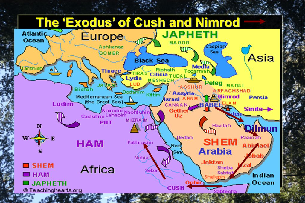 The 'Exodus' of Cush and Nimrod Dilmun
