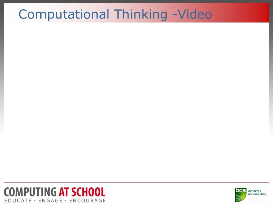 Computational Thinking.