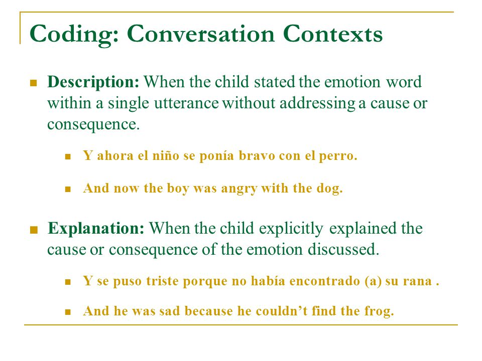 Results 78% (n = 89) of all children used emotion words in their narratives.