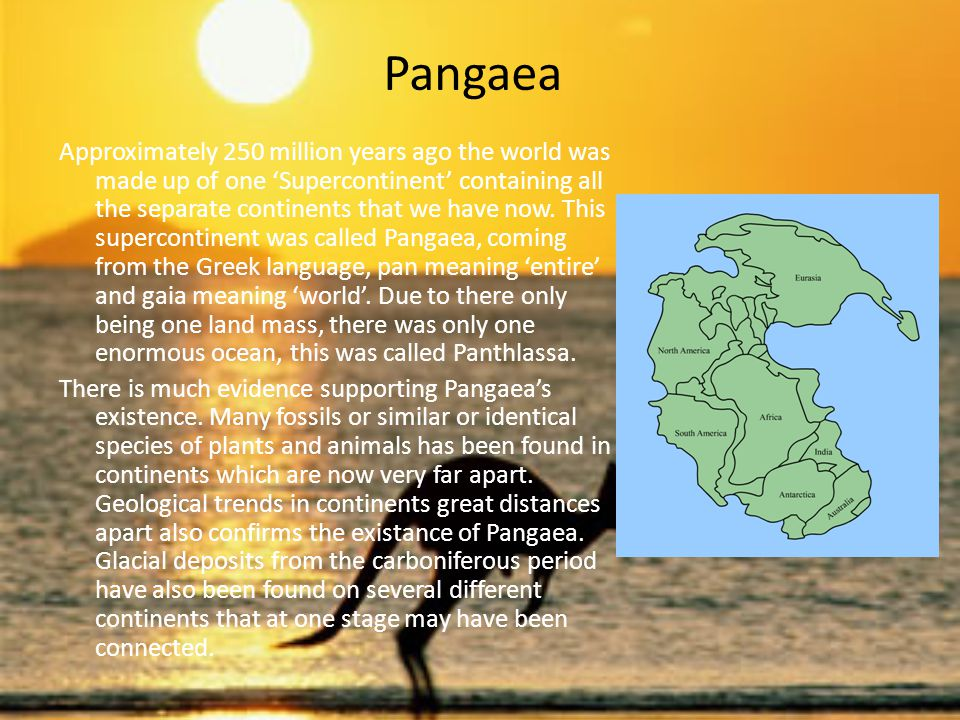 The Breakup of Pangaea The breakup of Pangaea occurred in three stages.