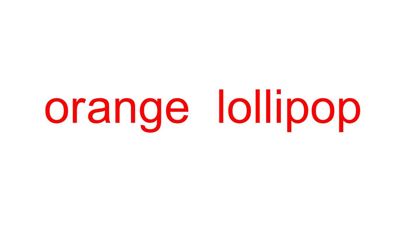 or ange lollipop
