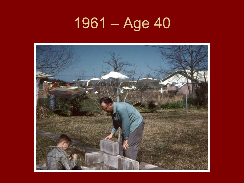 1961 – Age 40